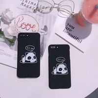 Lovely sleeping Panda mobile phone case for iPhone X 7 7plus 8 8plus iPhone6 6s plus -171121