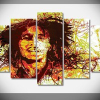 P1528 Bob Marley Poster Wall Art Poster Waterproof quality Canvas Print Framed Gallery wrap art print home wall decor  wall