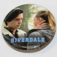 """Licensed cool CW RIVERDALE High Jughead Betty Bughead 1 1/4"""" Button Pin Back Pinback Licensed"""