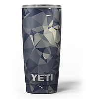 Slate Gray Geometric Triangles - Skin Decal Vinyl Wrap Kit compatible with the Yeti Rambler Cooler Tumbler Cups