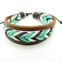 fashion Adjustable leather Cotton Rope Woven by sevenvsxiao
