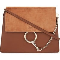 CHLOE - Faye leather & suede cross-body bag | Selfridges.com
