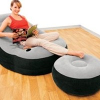 Ultimate Dorm Lounger & Foot Rest - College Dorm Room Furniture Cheap Dorm Items Cool Dorm Chairs