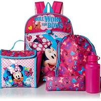 Backpack School Set Minnie Mouse 5 piece