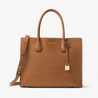 MICHAEL KORS MERCER LARGE BONDED-LEATHER TOTE