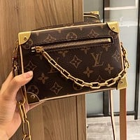 Louis Vuitton LV Women Men Classic Leather Shoulder Bag Crossbody Satchel