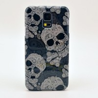 Ready For Skull Madness Samsung Galaxy S5 Durable Hard Cover Phone Case With Sinner Skulls