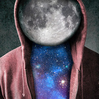 Space man,digital print,poster,artwork,space,moon,stars,cool,hipster,galaxy,home decor