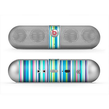The Vibrant Colored Stripes Pattern V3 Skin for the Beats by Dre Pill Bluetooth Speaker