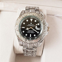 Rolex fashion carved men's casual business luxury watche