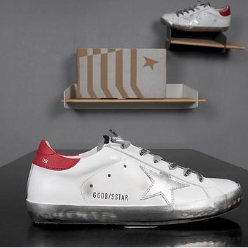 GOLDEN GOOSE GGDB SSTAR Superstar Red White Leather Sneakers