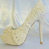 Lacey Ivory wedding shoes   with 5 1/4 by everlastinglifashion