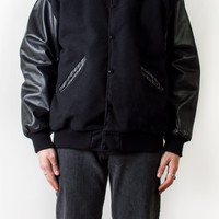 Monochrome Padded Baseball Jacket