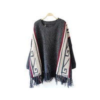 CAPE AZTEC SWEATER
