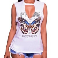 Free Butterfly Slash Shirt