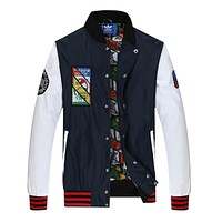 "Bai Lian Yi ""Adidas"" Women Men Unisex Cardigan Jacket Coat"