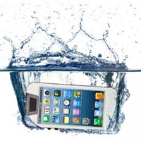 iContact Waterproof Case for iPhone 5/5S - Retail Packaging - Clear/White