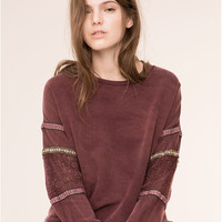FADED SWEATSHIRT WITH ETHNIC RIBBON - NEW PRODUCTS - NEW PRODUCTS - PULL&BEAR Ireland