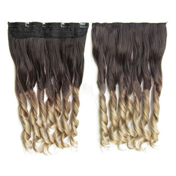 Gradient Ramp Hair Extension 5 Cards Wig     4T16