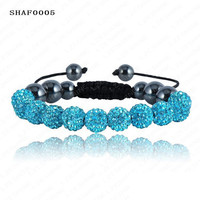 Shambala 10mm Crystal and Clay Bracelet