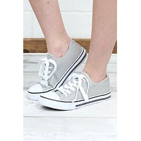 Basic Canvas Sneakers {Grey}