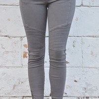 Moto Jeans - Charcoal