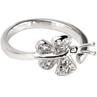 Sterling Silver 925 Cubic Zirconia PAVED BUTTERFLY Toe Ring | Body Candy Body Jewelry