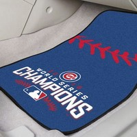 Chicago Cubs Car Mat Set World Series 2016 Championship 2-Pc Carpeted