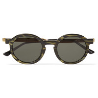Thierry Lasry - Sobriety Round-Frame Striped Acetate Sunglasses | MR PORTER
