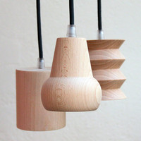 beech suspension light (6 shapes to choose from)