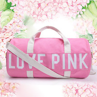 """ Love Pink "" Shoulder Victoria Secret Like Crossbody Gym Exercise Yoga Beach Handy Travel Bag _ 9341"