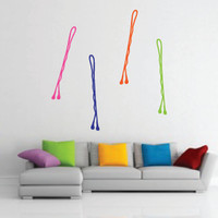Colorful Bobby Pins (Set of 4) Vinyl Wall Decal