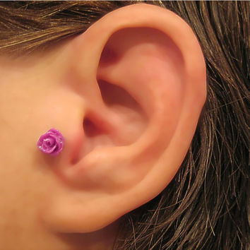 Cartilage Piercing Rose Earring 1 Earring - Not a Pair Helix Tragus 20 Ga.