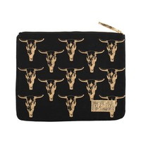 Alola - Cow Skull Clutch | Black