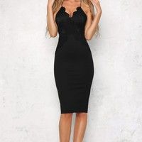 Golden Child Midi Dress Black PRE-ORDER
