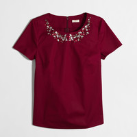 Factory jeweled necklace top : Blouses & Tees | J.Crew Factory