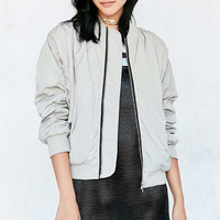 UNIF Cozy Lined Oversized Bomber Jacket - Urban Outfitters