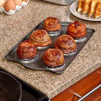 Bacon Bowl Pan 6 Molds Grease Collector Breakfast Snack Entertaining Bake Cook