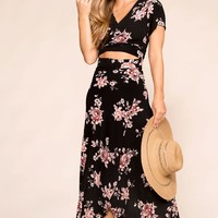 Rosalie Black Floral Maxi Dress