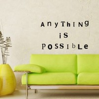 Wall Vinyl Sticker Decal Art Design Inspirational Quote By Unknown Source on Old Grunge Wall Lettering Room Nice Picture Decor Hall Chu977