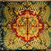Tie Dye Tapestry by Emerald Springs 58x43 wallhanging fire colors