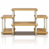 Furinno Turn-N-Tube No Tools Entertainment Center, Beech/White