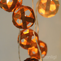 Rattan ball string lights for Patio,Wedding,Party and Decoration (20 bulbs) brown mix color ball
