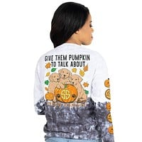 Give Them Pumpkin To Talk About - Tie Dye - SS - F20 - Adult Long Sleeve