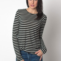 Round Bottom Tee Black Stripe
