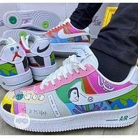 Ruohan Wang X Nike Air Force 1 Illustration Graffiti Logo Low-top Sneakers Shoes
