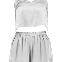 Kara Crop Vest And Shorts Night Set