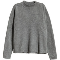 Mock Turtleneck Sweater - from H&M