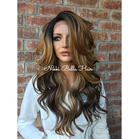"""Kirsten Multi blonde lace front hair wig 22"""""""