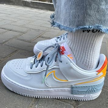 Nike Air Force 1 AF1 Low help colorblock low help men's and women's sneakers Shoes White